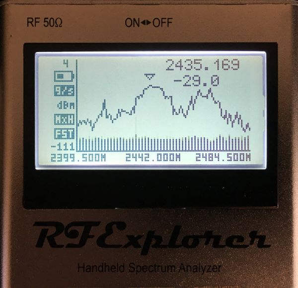 RF Explorer Screen View